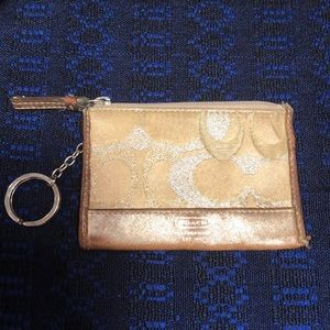 Coach Gold Key Chain/Card Holder